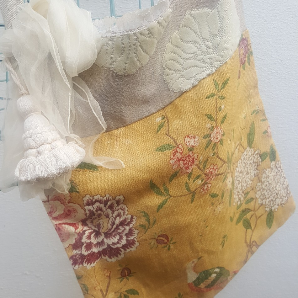 Yellow Floral Bag